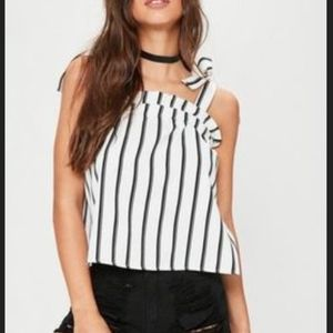 Missguided Striped Tie Cami Top